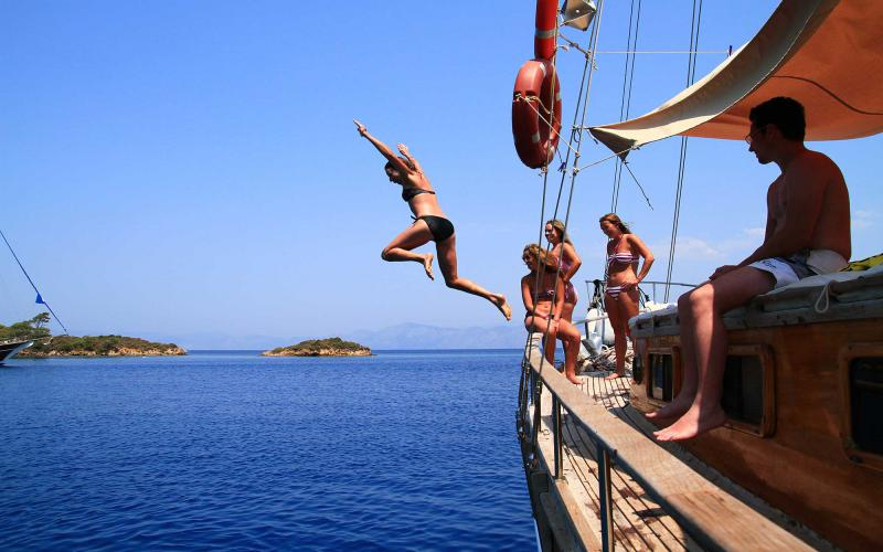 Marmaris Fethiye Type,Light Tours Blue Cruise, Blue Cruise, Discount Tours,Cabin Charter Blue Tour 17