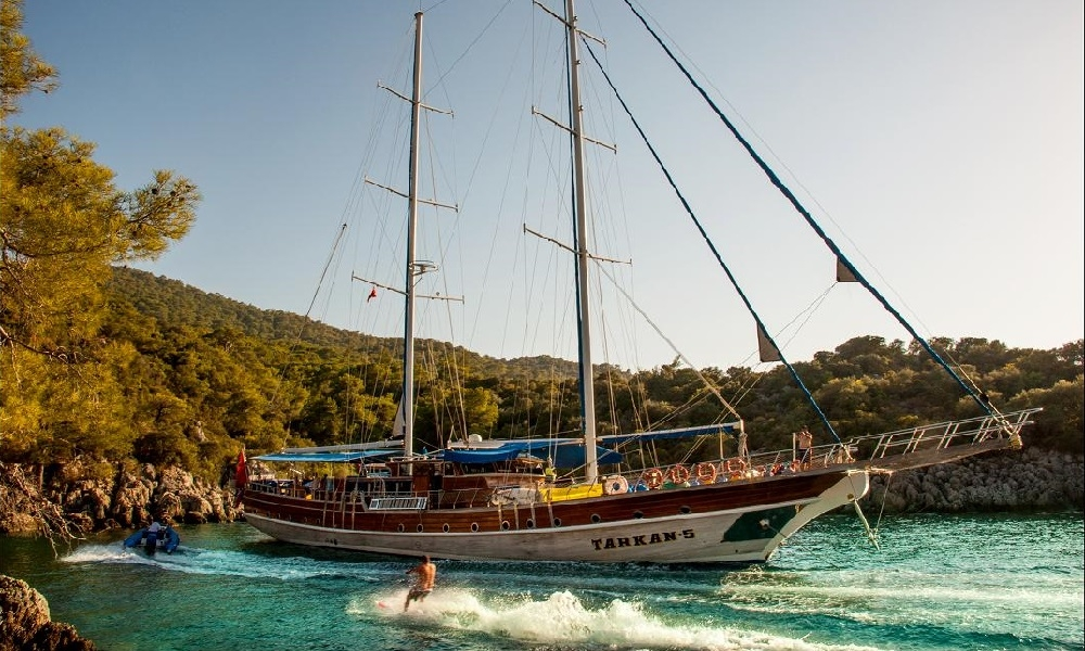 Tarkan 5 blue tours, boat rental, blue cruise trips, light tours yachts,Light Tours Blue Cruise, Gulet Charter, Yacht Charter,Fethiye Tarkan 5 Yacht 2632